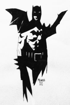 Batman pinup by Mike Mignola.