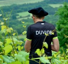 One of our guests stopping to take in the view while cycling through Burgundy.