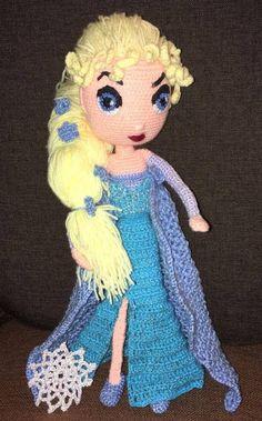 My crochet Elsa