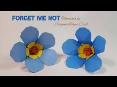 Origami: Forget Me Not Flower/ Scorpion Grasses || OrigamiPaperCraft - YouTube