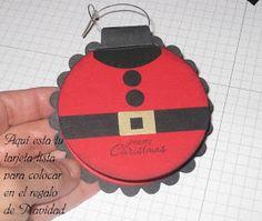 Estastarjetas con la ropa de Santa son muy originales y las puedes hacer de varios tamaños. Estas las realicé para los regalos que daré a...