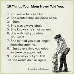 Lessons Learned in Life | 10 things your mom never told you.