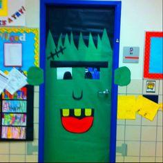 Dutch door Halloween Frankenstein door for Halloween day care | Kids craft ideas | Pinterest | Frankenstein Doors and Red ribbon week & Dutch door Halloween Frankenstein door for Halloween day care ... pezcame.com