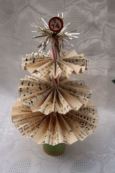 tree made from wooden spool and peppermint stick
