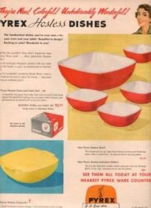 Ad for Hostess Dishes. My hubby gave me the yellow one for Christmas this year.