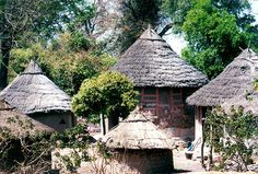 Traditional Mandinka tribe housing