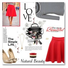 """Red Flared Skirt"" by daiscat ❤ liked on Polyvore featuring Weekend Max Mara, Pilot, Balenciaga, Kenneth Jay Lane, Sonia Rykiel and Chanel"