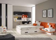 Recursos para cambiar de habitación: de niños a adolescentes – Deco Ideas Hogar Modern Office Desk, Relaxing Colors, Simple Bed, Dormitory, My Room, Girls Bedroom, Bedrooms, Room Decor, House
