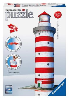 Lighthouse - 216 Piece 3D Jigsaw Puzzle