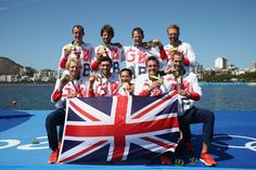 08.13.16 Great Britain takes gold in  Men's Coxed Eight Rowing. #Rio2016