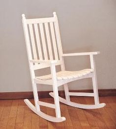 Eco-Friendly White Eucalyptus Rocking Chair. Product in photo is from www.wellappointedhouse.com