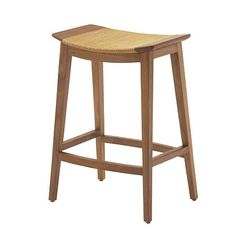 The Japanese-inspired Curved Walnut Counter Stool is an example of the impeccable construction of a well-loved form. In keeping with Japanese tradition, this counter stool is constructed of satin finished walnut solids with no veneer  and employs simple but strong mortise and tenon joinery.