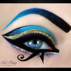 Egyptian-inspired eye makeup -- going to have to use some At Play Bold Fluid Eyeliner for this one!