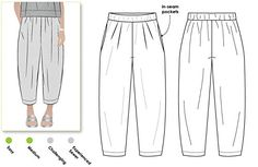 Style Arc Sewing Pattern - Ethel Designer Pant (Sizes 18-30) - Click for Other Sizes Available Style Arc