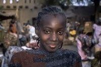 Ragazza al mercato di Djenné