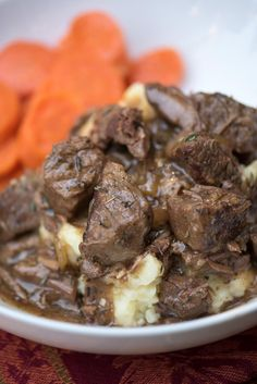 A delicious way to prepare steak in the cold fall and winter months. Slow Cooker Beef Tips with Gravy is a satisfying, family-friendly meal. With a little help from your slow cooker you can have this delicious, satisfying meal on your menu any night of the week. ~ https://www.fromvalerieskitchen.com