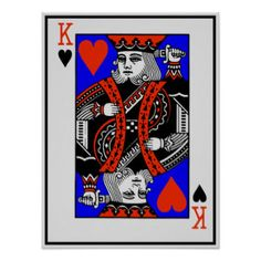 THE KING OF HEARTS PRINT