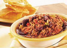 Chili corn carne de dindon Minçavi (recette du Salon Rendez-vous HRI 2008) Skinny Recipes, Diet Recipes, Healthy Recipes, Healthy Food, Chili Corn Carne, Ground Turkey Recipes, Clean Eating, Favorite Recipes, Beef