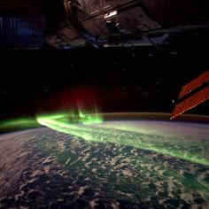 Southern lights from space