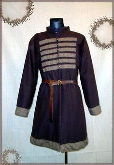Medieval russian coat made of wool and linen,