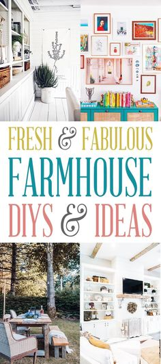 Fabulous and Fresh Farmhouse DIYS and Ideas  #Farmhouse #FarmhouseDIYS #FarmhouseIdeas #FarmhouseHomeDecor #FixerUpper