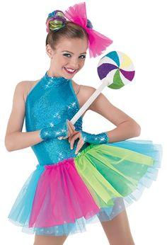 Weissman™ | Multicolor Tricot & Tulle Tutu color choices Lollipop Guild