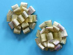 Recycled gift bows: yellow pages version | How About Orange