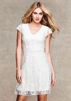 Skyler Cap Sleeve Lace Dress - View All Dresses - Dresses - Clothing - Alloy Apparel