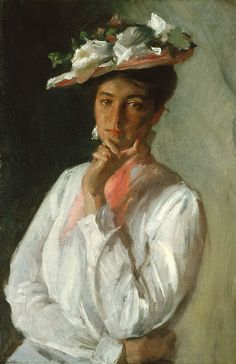 POUL WEBB ART BLOG: William Merritt Chase - Woman in White 1902