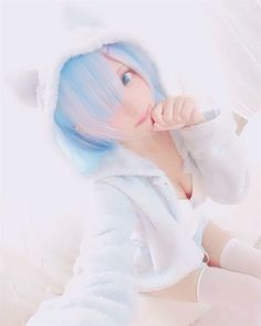 Pure cuteness, Rem from Re:Zero Miku Cosplay, Kawaii Cosplay, Anime Cosplay Girls, Asian Cosplay, Cute Cosplay, Amazing Cosplay, Best Cosplay, Cosplay Costumes, Manga Kawaii