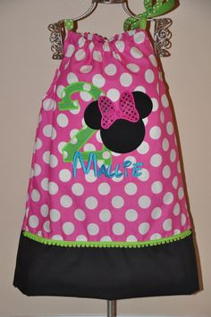 Birthday Minnie Mouse Traditional Pink Dress by WaltsCloset, $25.00