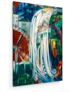 Franz Marc - Die verzauberte Mühle #Franz #Marc #weewado #franz #marc #german #art #from #water #mill