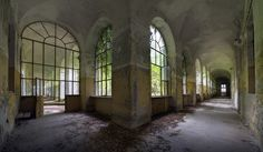 Open air inner quadrangles in a large ex-psychiatric hospital in Northern Italy. (Photo: Forgotten Heritage Photography)