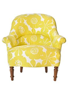 floral chair is the perfect pop of color! #pinparty
