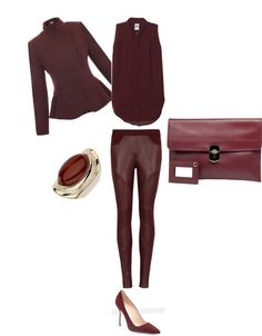 """monochromatic Oxblood"" by mariagonz on Polyvore"