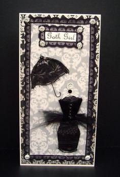 Goth Girl Personalised Card / Handmade Greeting Card by BSylvar, $15.00