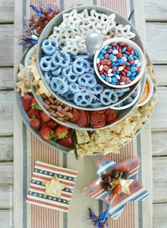 of July Vertical Appetizer Snack Tray Fourth Of July Food, 4th Of July Celebration, July 4th, Party Treats, Party Snacks, Parties Food, Party Games, Recipes Appetizers And Snacks, Fun Appetizers