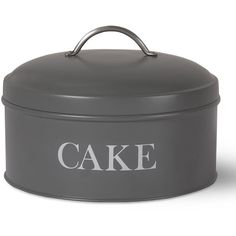 Garden Trading Cake Tin - Charcoal ($28) ❤ liked on Polyvore featuring home, kitchen & dining, food storage containers, grey, garden trading, cake tins and grey kitchen accessories
