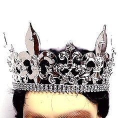 Shop wholesale men's crowns for Pageant, prom, homecoming, or Mardi Gras kings. See full round crowns in gold and silver plating including fleur-de-lis crowns - AWNOL Wholesale Crowns, Male Crown, Pageant Crowns, Woman In Gold, Royal Life, Kings Crown, Stone Work, Mardi Gras, Homecoming