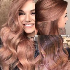Eine mutige Frau, die o will # rose gold blonde beautiful ! it is so beautiful ! A brave woman who wants o - - Hair Color And Cut, Cool Hair Color, Cabelo Rose Gold, Gold Hair Colors, Rose Hair, Rose Blonde Hair, Rose Gold Hair Brunette, Winter Hairstyles, Ladies Hairstyles