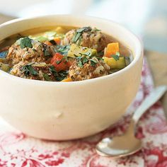 Grandma Salazar's Albóndigas Soup | CookingLight.com #myplate #protein #veggies
