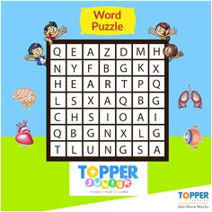How many organs can you find in this puzzle? #BrainTeasers | #TopperJunior | #Puzzle | #Education