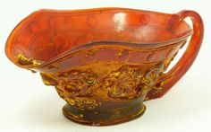 Chinese Cherry Amber Carving