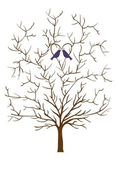 wedding guest tree template