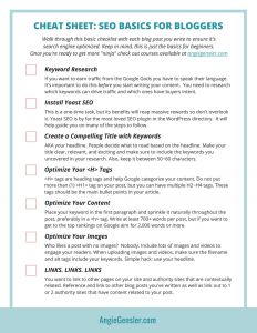 CHEAT SHEET_ SEO basics for bloggers