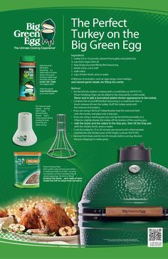 Big Green Egg says No Thanksgiving Leftovers! Smoker Cooking smoker recipes on big green egg Big Green Egg Turkey, Green Egg Bbq, Green Eggs And Ham, Big Green Egg Smoker, Cooking The Perfect Turkey, Smoker Recipes, Grilling Recipes, Vegetarian Grilling, Grilling Ideas