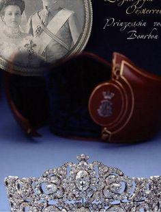 #Tiara of Archduchess Maria Anna Princess Royal of Hungary and Bohemia  #Diadem Erzherzogin Maria Anna #köchert #royaljewels Diadème de la princesse Maria Anna de Bourbon# Autriche épousa - #Parme #jewelhistory: http://www.royal-magazin.de/austria/mariaAnna-austria-bourbon-tiara.htm