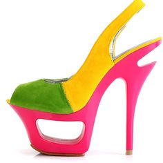 Candy Color Patchwork Slingback Peep Head Woman Sandals