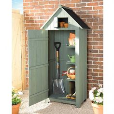 Compact Sentry Garden Shed Small Garden Tool Shed, Garden Tools, Traditional Sheds, Tool Sheds, Vegetable Garden Tips, Garden Solutions, Small Sheds, Saag, Wood Vinyl