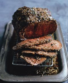 mustard + cracked pepper roast beef